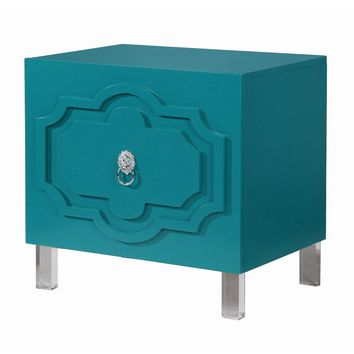 Chic Home Fez Lacquer Finish Lucite Leg Side Table | Overstock.com Shopping - The Best Deals on Coffee, Sofa & End Tables
