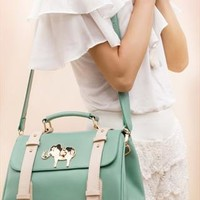 Cute Retro Green Elephant Handbag from styleonline
