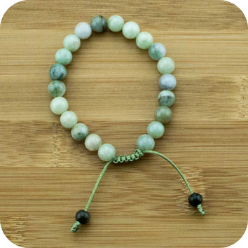 Multi-Colored Jade Yoga Beads Bracelet (Jadeite)