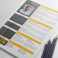 MS Word Professional Resume Template with Cover Letter and Portfolio, CV Template