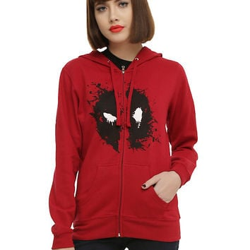 Marvel Her Universe Deadpool Face Girls Hoodie