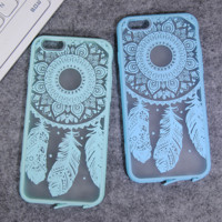Fashion colored feathers mobile phone case for iphone 5 5s SE 6 6s 6Plus 6S Plus+ Nice gift box!