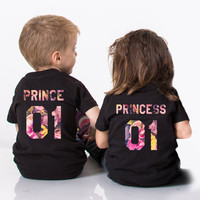 Prince princess floral shirts, Prince princess kids shirts, Floral Shirts, Fleur Collection, Prince princess shirts for kids, UNISEX