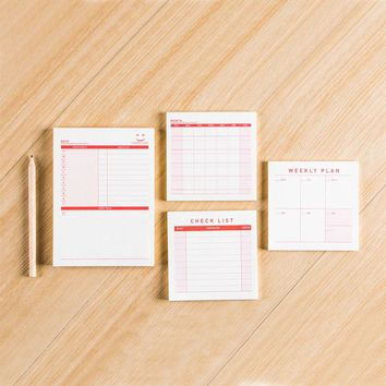 Office Accesory Monthly Planner Month Check List To Do List Memo Pad School Supply Stationery 60/100 Sheets