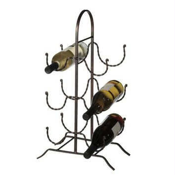 Wine Bottle Rack - Rustic Rope Design