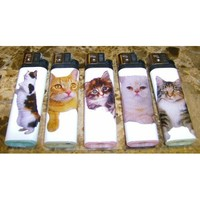 Lot of 5 Cute Kitty Cat Kittens Disposable Lighters New: Amazon.com: Kitchen & Dining