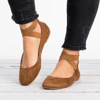 Loafers Solid Square Toe Ballet Flats Casual Slip On Shoes Woman Comfort Autumn Women Shallow Flat Leather Shoes Plus Size 43