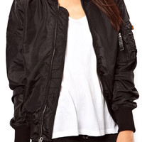 ROMWE Zippered Elastic Black Coat