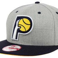 Indiana Pacers NBA Hardwood Classics Heather Gray 9FIFTY Snapback Cap