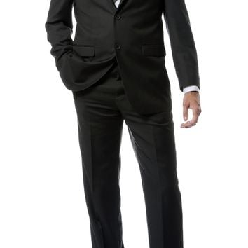 Premium FNL22R Mens 2 Button Regular Fit Charcoal Suit