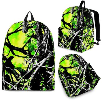 Neon Green Camo Backpack