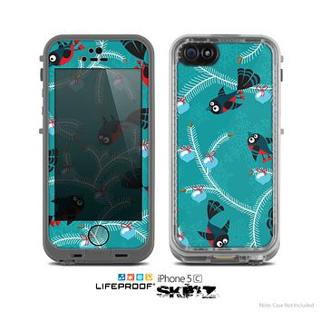 The Blue with Flying Tweety Birds Skin for the Apple iPhone 5c LifeProof Case
