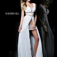 Sleeveless Plunging V-Neckline Formal Prom Dress Sherri Hill 1588