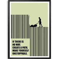 "Lab No. 4 If There Is No Way, Create A Path, Make Yourself Unstoppable Business Quotes Framed Poster Size A3 (16.5"" X 11.7"")"