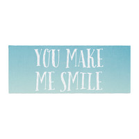"Susannah Tucker ""You Make Me Smile"" Beach Sky Bed Runner"