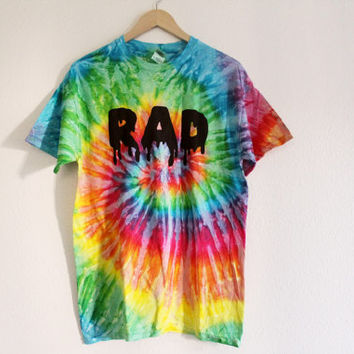 Made to Order tie dye RAD shirt