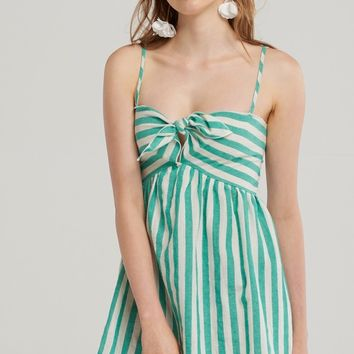 Candy Striped Ribbon Dress Discover the latest fashion trends online at storets.com