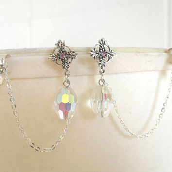Elven Ear cuffs -  Set of 2 Bridal Elven Ear cuffs - Fresh Water Pearls