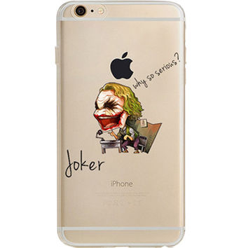 Dark Knight Joker Jelly Clear Case for Apple iPhone 7 PLUS
