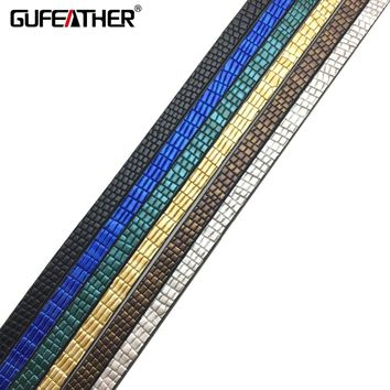 GUFEATHER 5MM Diy PU leather cord/jewelry materials/Etsy supplier/Round pattern rope/jewelry findings leather cord