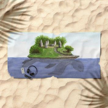 Turtle island Beach Towel by Savousepate