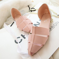 Stylish Design Summer Flat Shoes Roman Sandals [6031699393]