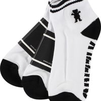 Grizzly Og Bear Ankle Socks White 3 Pair Bundle