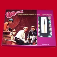 Vintage Reproduction MONKEES 1960's PAINT BY NUMBER KIT Monkee Beat complete with paints, prints and repro original box