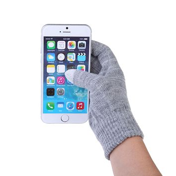 Unisex Men/ Women Fashion Touch Screen Soft Cotton Winter Gloves Texting Outdoor Capacitive Warmer Smartphones 10 Colors Gift