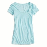 AEO Women's Favorite Scoop T-shirt (Dream Blue)