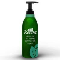 #1 Best Anti-bacterial Body Wash with Tea Tree Oil, Argan Oil, and Coconut Oil 3-in-1 Formula by Keeva. Natural Ingredients Are Perfect for Moisturizing Dry, Sensitive Skin, and Fighting Body Acne. 100 Day Full Money Back Guarantee
