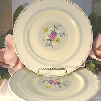 Royal Doulton, China Dinnerware Pattern # V1865 Burnham set 2 dinner plate