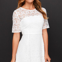 Love and Laughter Ivory Lace Dress