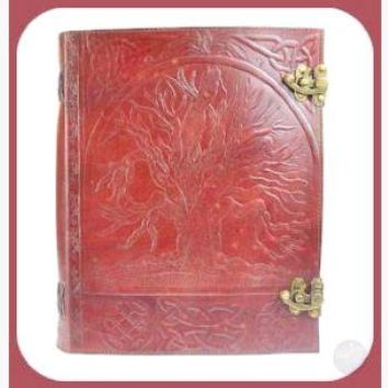 Tree of Life Leather Journal with Latch