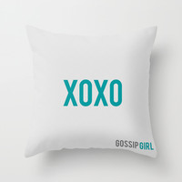 Gossip Girl - Minimalist Throw Pillow by Marisa Passos