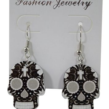 Skull Love Dia De Los Muertos Day Of The Dead Sugar Skull Earrings