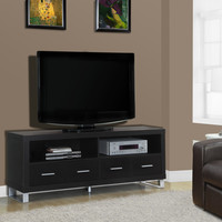 "Cappuccino Hollow-Core 60""L TV Console with 4 Drawers"