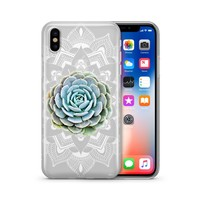 Succulent Mandala - Clear Case Cover