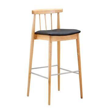 Thin Bar Stool, Black