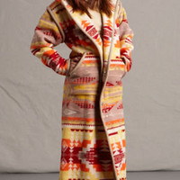 Southwestern & Native American Style Coats, Womens Pendleton ® Fabric Wool Long Coat