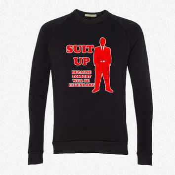suit up - Copy fleece crewneck sweatshirt