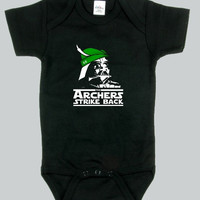 Baby bodysuit Empire Darth Vader Funny Archer Strike Back Star Wars cute  One Piece Onesuit