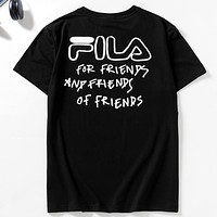 FILA X 3.1 Phillip Lim Joint Knit Round Neck Half Sleeve T-Shirt Black