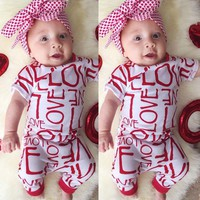 Cute Newborn Baby Girl Clothes Short Sleeve Romper Cotton Jumpsuit Outfits One pieces Summer Rompers Girls