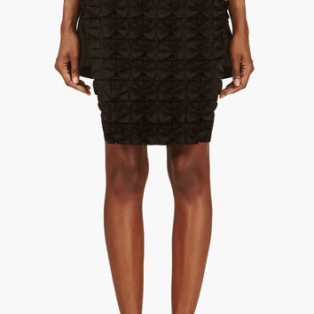 J.w.anderson Black Structured Origami Bow Butterfly Skirt
