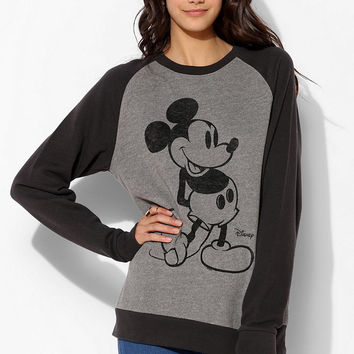 Junk Food Mickey Mouse Raglan Pullover Sweatshirt - Urban Outfitters
