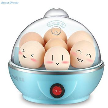 Sweettreats Multifunctional Electric 7 Egg Boiler Cooker Mini Steamer Poacher Kitchen Cooking Tool