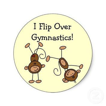 I Flip Over Gymnastics Tshirts and Gifts Sticker from Zazzle.com