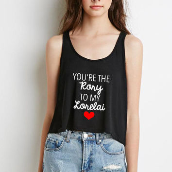 """Gilmore Girls """"You're the Rory to my Lorelai"""" Boxy, Cropped Tank Top"""