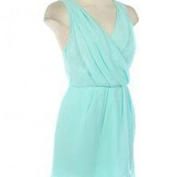 Lovely Chiffon Pleat Crossback Dress